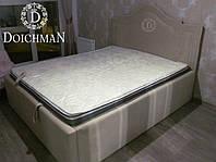 Двуспальная кровать с мягким изголовьем купить в Украине