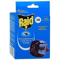 Электрофумигатор от комаров Raid в комплекте с 10 пластинами