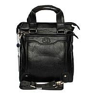Стильная деловая сумка черного цвета 08-4