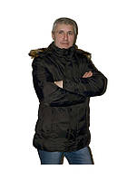 Куртка мужская зимняя теплая черная DM15079