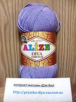 Пряжа микрофибровая(92%-микрофибра, 8%-эластик) Alize Diva Stretch 158 (сирень)
