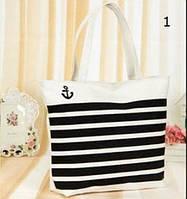 Большая тканевая сумка с принами для покупок, пляжа, прогулок