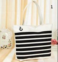 Большая тканевая сумка с принами для покупок, пляжа, прогулок, фото 3