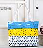 Большая тканевая сумка с принами для покупок, пляжа, прогулок, фото 2