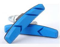 Велосипедные тормозные колодки синего цвета Soldier