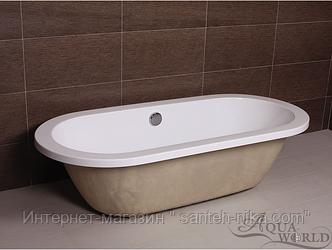 Встраиваемая ванна с переливом Aqua-World AW805-2 с сифоном D-4 АВ805-2 белая
