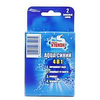 Туалетный Утенок подвесной очиститель для унитаза Аква запаска(синий) 108 г