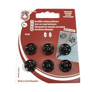 Кнопка пришивная Чехия 14 мм № 5, черный, фото 2