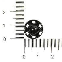 Кнопка пришивная Чехия 14 мм № 5, черный, фото 3