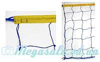 Сетка для волейбола с шнуром натяжения 5265: 9x0,9м, ячейка 15x15см