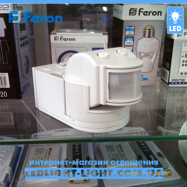 Накладной датчик движения Feron SEN 8 белый