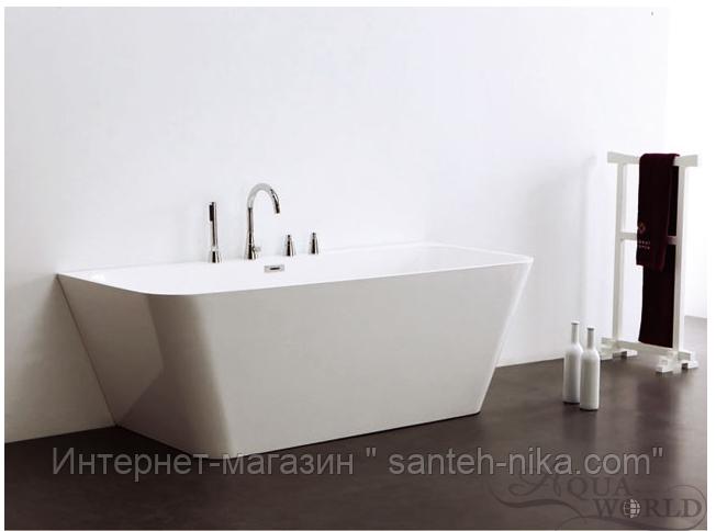 Пристенная ванна с переливом Aqua-World ARTISTIC BATH AC0902 АВ09-02 белая