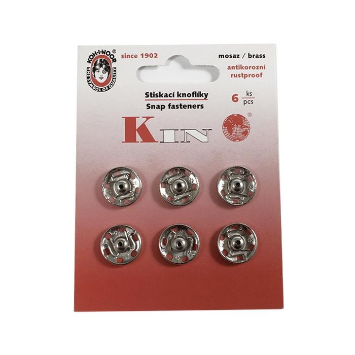 Кнопка пришивная Чехия 14 мм № 5, никель