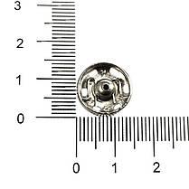 Кнопка пришивная Чехия 14 мм № 5, никель, фото 3