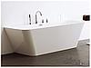 Ванна из литого мрамора с переливом пристенная Aqua-World ARTISTIC BATH AC0903 АВ09-03 белая