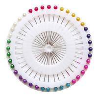 Иглы портновские с шариком, Цветные, 36 мм, 40 шт
