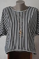 Блузка женская полоска с кулоном