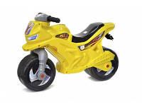 Мотоцикл толокар для катания детский желтый
