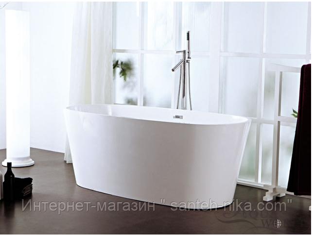 Ванна из литого мрамора с переливом островная Aqua-World ARTISTIC BATH AC0906 АВ0906