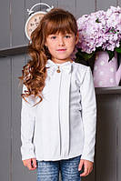 Школьная нарядная трикотажная блузка для девочки.
