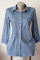 Рубашка жіноча горошок, фото 1