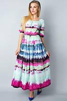 Платье в пол из яркого батиста П185