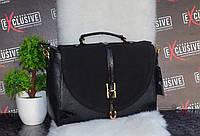 Классическая женская сумка с  замшевой лицевой стороной