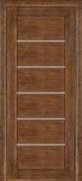 Межкомнатные двери Дверь межкомнатная модель 137 (глухая/остекленная) дуб браун Terminus