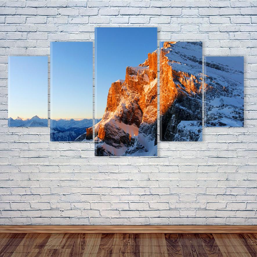 """Модульная картина """"Закат над горами"""""""