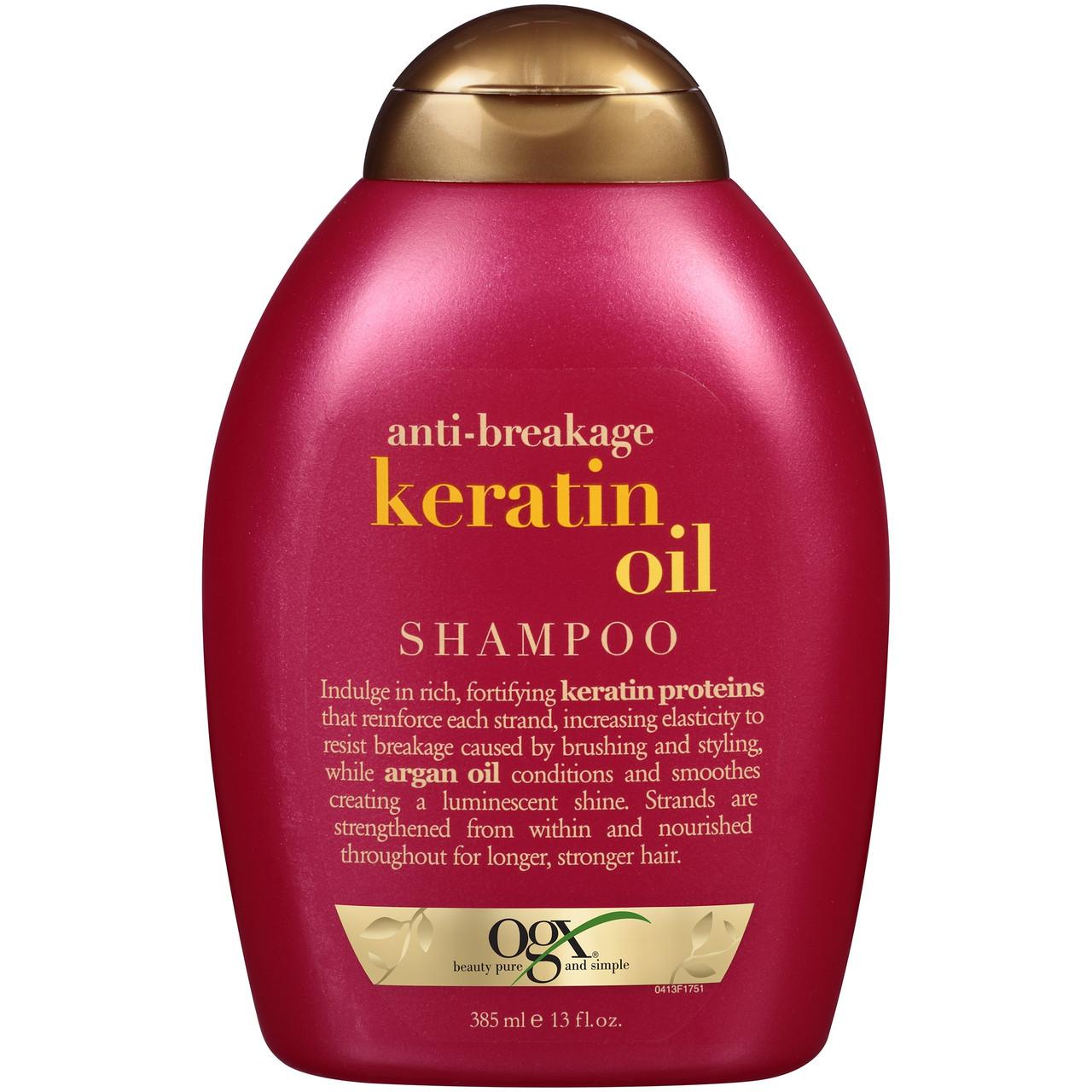 Шампунь OGX® против ломкости волосс кератиновым маслом, 385 мл. Сделано в США.
