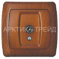VIKO Розетка tv (телевиз.) (Красное Дерево) 93010810