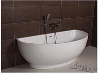 Ванна акриловая, пристенной/островной установки Aqua-World AW420 с сифоном D-9 АВ420 белая
