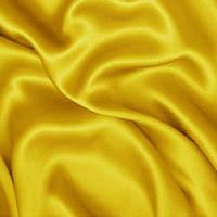 Ткань атлас - цвет желтый