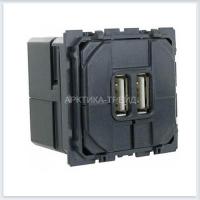 LEGRAND Мех.двойной розетки USB 1500mA, Celiane 67462