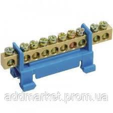 """Шина нульова на DIN-ізоляторі типу """"Стійка"""" ШНИ-6х9х12-С-С"""