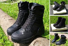 Черные кожанные демисезонные тактические ботинки берцы 5.11 (оригинал азиатская версия)