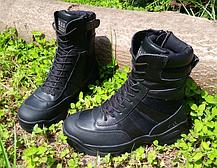 Черные кожанные демисезонные тактические ботинки берцы 5.11 (оригинал азиатская версия), фото 2