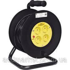 Катушка УК50 4гнезда 2Р+Е/50метров 3х1,5мм2