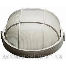 Светильник НПП1102 белый/круг с реш. 100Вт IP54