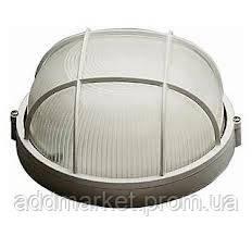 Светильник НПП1302 белый/круг с реш.60Вт IP54
