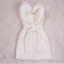 Осенний конверт-спальник для новорожденных Снежок айвори