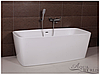 Ванна акриловая, пристенной/островной установки Aqua-World AW534 с сифоном D-9 АВ534 белая прямоугольная