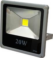 Прожектор светодиодный LL-272 1LED 20W 6500K 220V (18*18.5*4.5) Серебро IP66