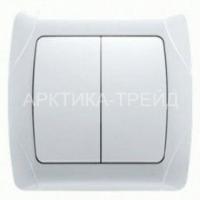 VIKO Выключатель 2 скр. с подсв. 90561050