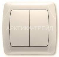 VIKO Выключатель 2 скр. (крем) 90562002