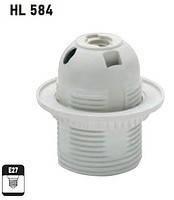 HL584 патрон пластиковый для лампочки E27