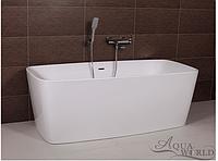 Ванна акриловая, пристенной/островной установки Aqua-World AW441 с сифоном D-9 АВ441 белая