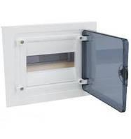 Щит зовнішнього встановлення з прозорими дверцятами, 8 модулів (1х8), GOLF