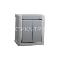 VIKO Выключатель 2кл. откр. (серый) Pacific 90591002