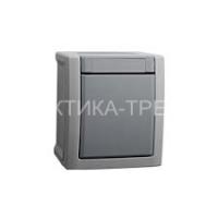 VIKO Выключатель 1кл. откр. проходной (серый) Pacific 90591004